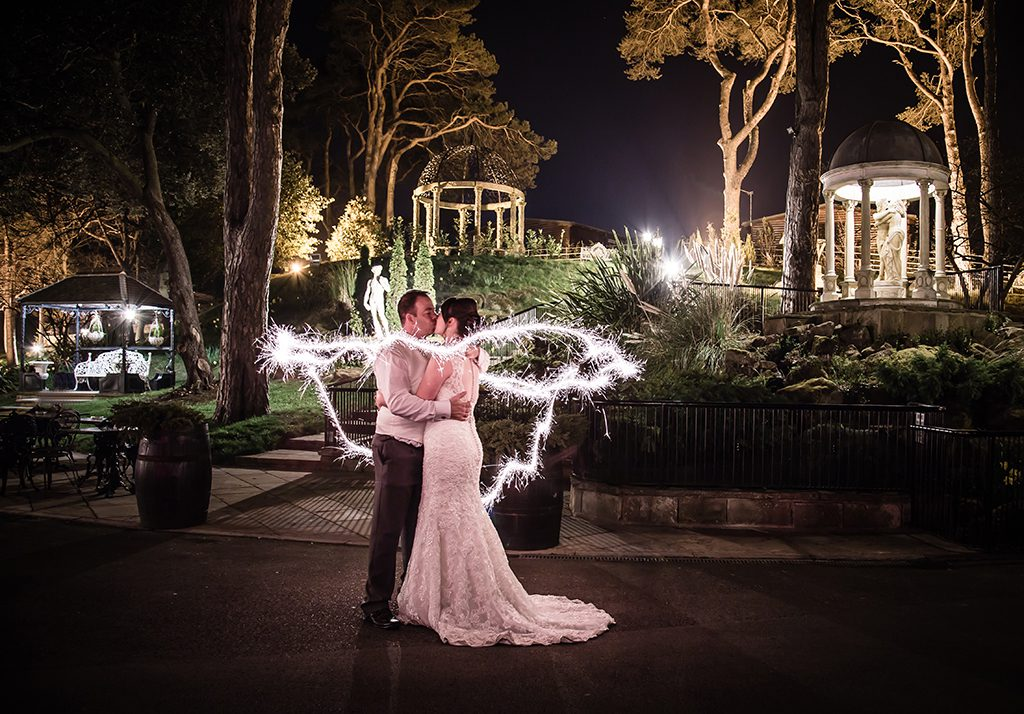Rushpool Hall Saltburn Wedding sparkler photograph