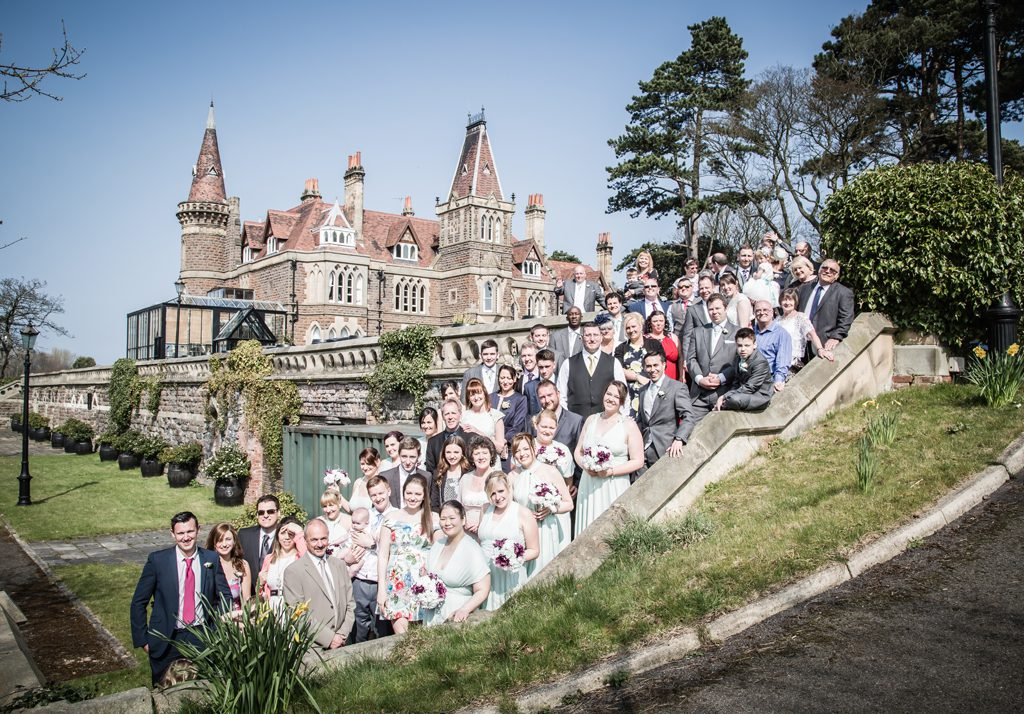 Rushpool hall wedding group photo