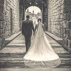 Alnwick castle wedding BW keep