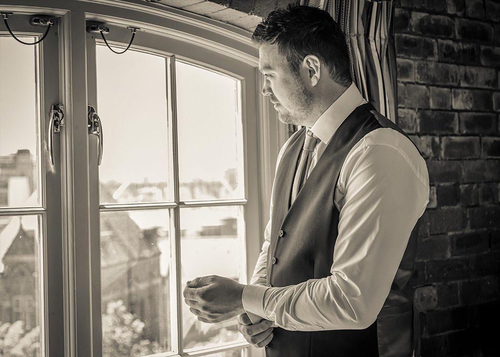 hotel du vin newcastle wedding groom getting ready