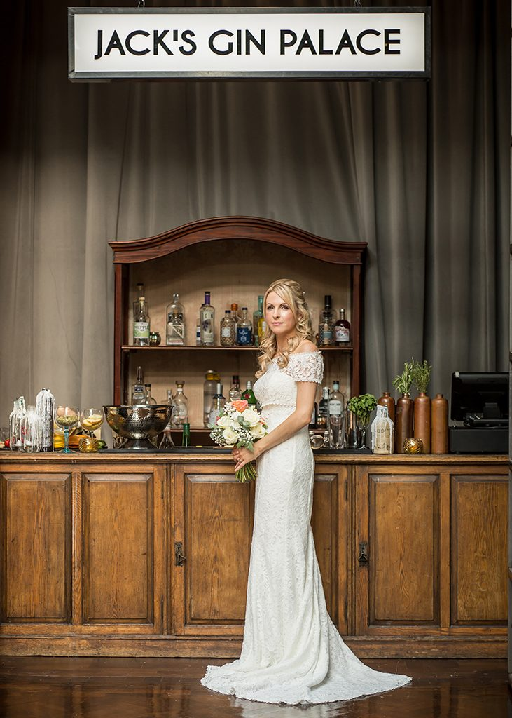 wylam brewery bride at gin bar