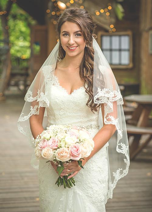 alnwick treehouse wedding photo of bride