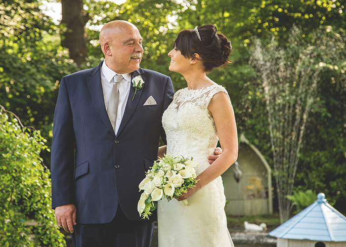 old vicarage castleside wedding father of the bride