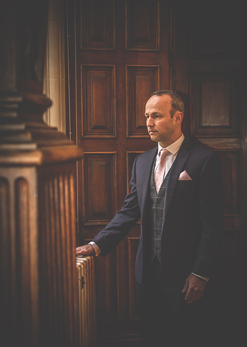 jesmond dene house wedding groom before wedding