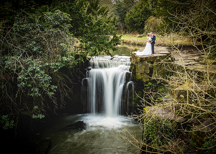 jesmond dene house wedding waterfall