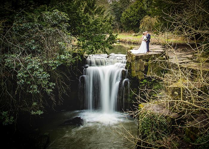 jesmond dene house wedding waterfall