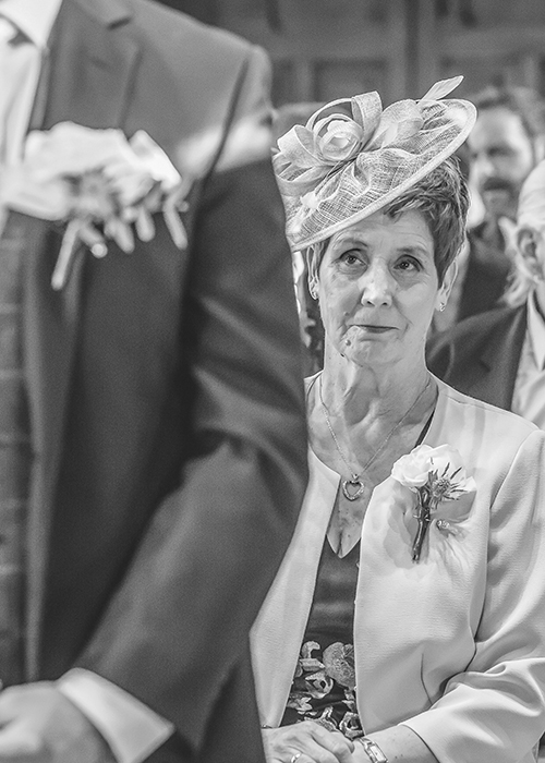 jesmond dene house wedding mother of groom during ceremony