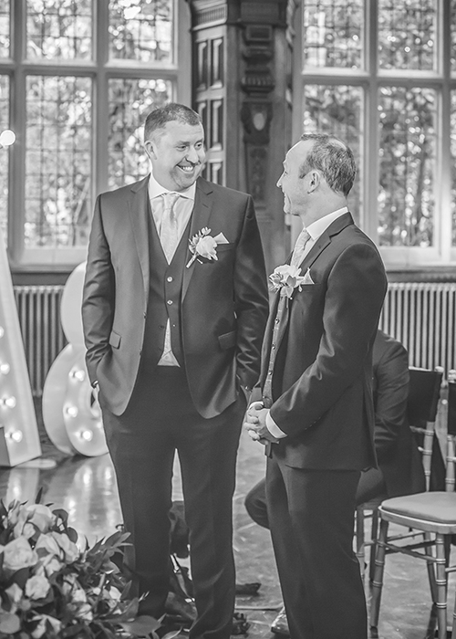 jesmond dene house wedding best man and groom