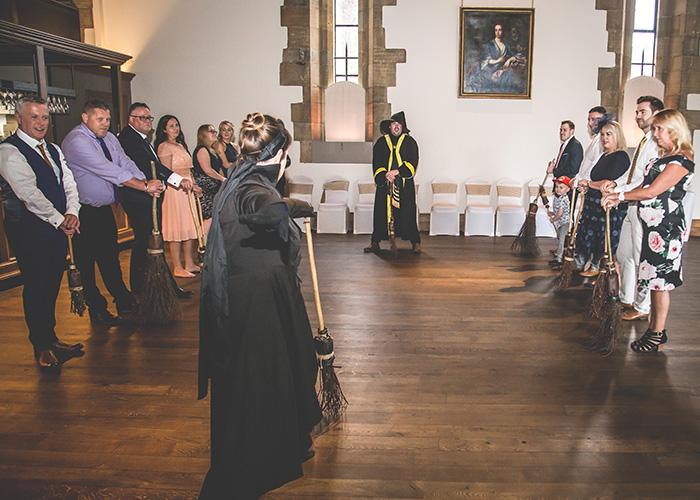 broomstick training indoor