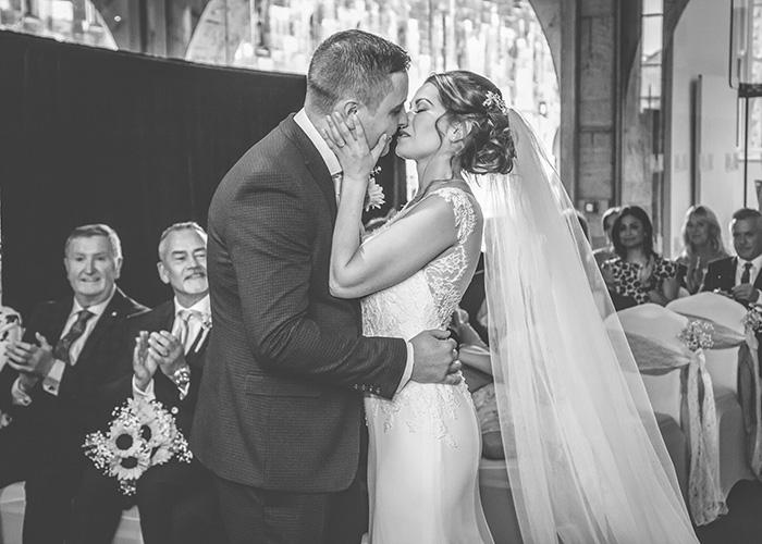 first kiss wedding ceremony alnwick castle