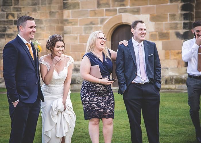 guests having fun at wedding