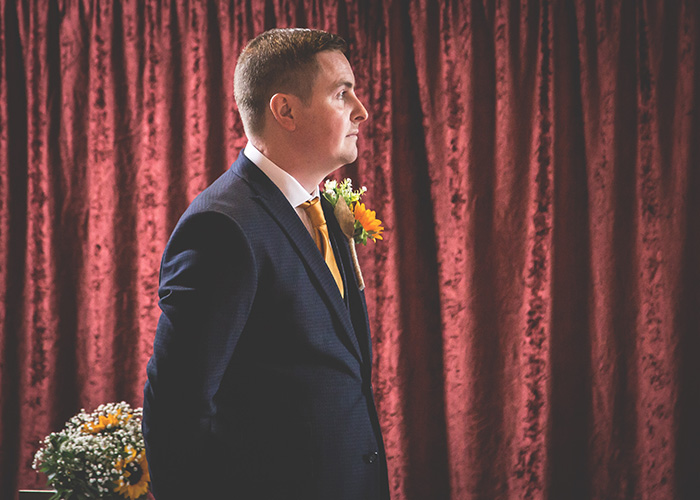 groom awaiting arrival of the bride