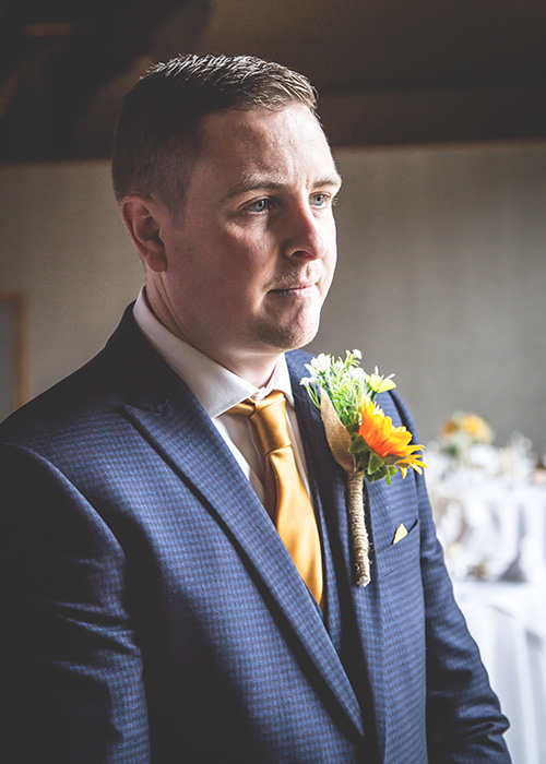 groom waiting before the ceremony
