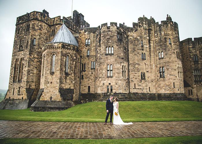 alnwick castle hogwarts wedding backdrop
