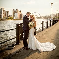 tyne bridge baltic wedding photo